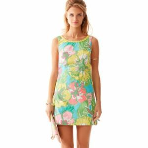 Lilly Pulitzer Delia Dress Shorely Blue Big Flirt